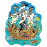 Puzzle de podea Corabia Piratilor (100 de piese) Pirate ship, orchard toys