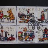 Suedia - Block serie completa (2000), Stampilat