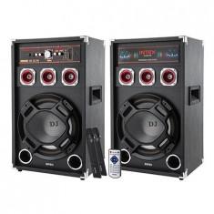 SET 2 BOXE DJ CU 2 MICROFOANE WIRELESS DJ-220