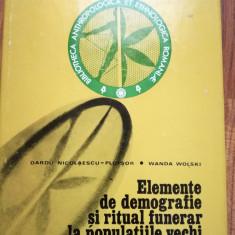 Nicolaescu-Plopsor - Elemente de demografie si ritual funerar (antropologie)