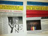 RARE =LOT 2 ZIARE VECHI ROMANUL LIBER -1992 ZIARUL UNIUNII MONDIALE A ROMANILOR