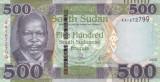 Bancnota Sudanul de Sud 500 Pounds 2017 - P15b UNC