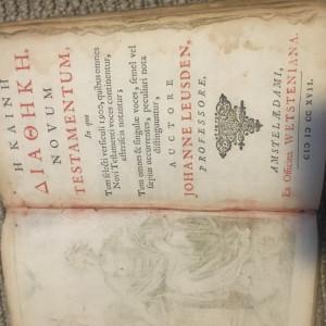 Novum Testamentum,1701,Johanne Leusden