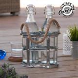 Sticle din Sticlă cu Suport Vintage Coconut