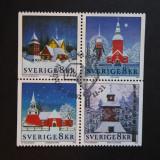 Suedia - Biserici (2002) (serie completa), Stampilat