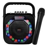 Difuzor Bluetooth cu Microfon Karaoke Daewoo DSK-360 USB LED 20W Negru