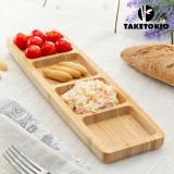 Tavă de Bambus cu 4 Compartimente TakeTokio