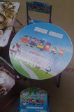 Set pliabil masa si scaune pentru copii model alfabet