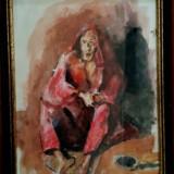 Corneliu Baba studiu regele nebun tehnica mixta