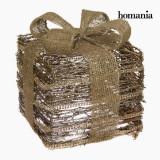 Cutie Decorativă Fier Ratan Șampanie Auriu* by Homania