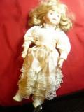 Papusa Jes-  cap, maini ,picioare- portelan ,marcaj Classique Collection,h=40cm