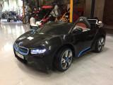 Masinuta electrica Copii BMW i8 2x 35W 12V , scaun din piele, Telecomanda #NEGRU