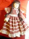 Papusa Laura -cap, maini ,picioare-portelan marca Classique Collection ,h=40cm