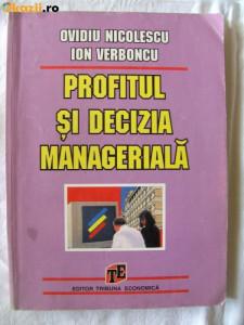 Ovidiu Nicolescu - Profitul si decizia manageriala