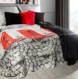 Cuvertura pat copii Ville Grey / Red, 170 x 210 cm