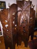 Superb paravan antic de dimensiuni impresionante din lemn de mahon