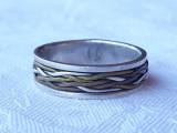 INEL argint ornat cu IMPLETITURA din Argint Alama Cupru VINTAGE de efect