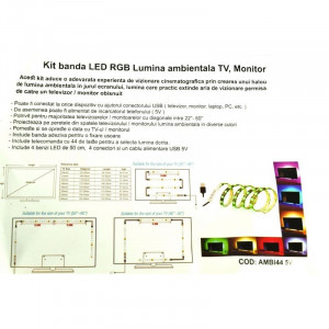 Kit Banda Led Rgb Lumina Ambientala TV / Monitor AMBI44