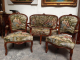 Elegant salonaș in stilul Ludovic cu tapiserie goblen model Fragonard