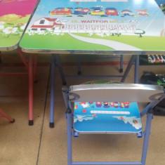 Set pliabil masa si scaun pentru copii model DESENE ANIMATE