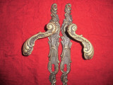 Pereche silduri din bronz masiv 25,5 cm AM 3 PERECHII