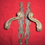 Pereche silduri din bronz masiv 25,5 cm AM 2 PERECHII