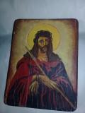 Icoana veche pictata pe lemn,icoana frumoasa in starea care se vede,T.GRATUIT