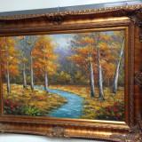 Ulei pe panza o lucrare de dimensiuni impresionante, Peisaje, Realism