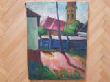 Tablou ulei pe panza semnat Ziffer Sandor peisaj de Baia Mare, Peisaje, Impresionism