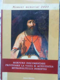 MARTURII DOCUMENTARE PRIVITOARE LA VIATA SI ACTIVITATEA MITROPOLITULUI DOSOFTEI, Bernhard Schlink