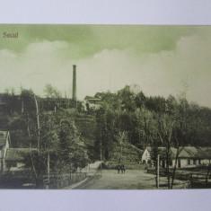 Rara! C.P. Secul/Secu-Banat/Caras,exploatarea miniera/mina,necirculata anii 20, Printata