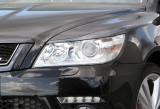 Pleoape faruri Skoda Octavia 2 RS Facelift 12/2008-2013 3D Carbon set de 2 bucati
