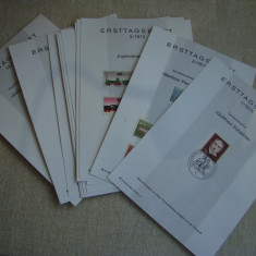 Carton Filatelic Prima Zi BERLIN (ERSTTAGSBLATT) - Ani Diferiti