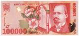 ROMANIA, 100000 LEI 1998_serie 005C3405695 * cod 1