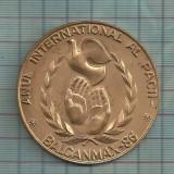 Medalie Brasov- Anul international al pacii-Expozitie 1986