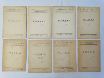 Filarmonica de Stat George Enescu Program 1959 - 1963 colectie 8 programe foto