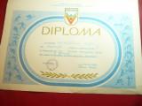 Diploma a Competitiei Daciada ,locul II Disc barbati 36-40 ani - 1988 Poiana Bv