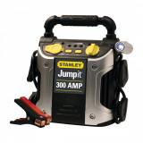 Robot pornire Stanley J309-E 300A 12V , lampa LED, baterie externa port USB, fisa bricheta, Peste 12