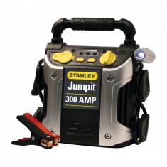 Robot pornire Stanley J309-E 300A 12V , lampa LED, baterie externa port USB, fisa bricheta