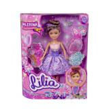 Papusa Colectia Lilia - Balerina cu rochita Mov