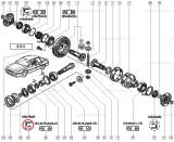 Simering grup conic Renault R21 46x78x9mm, original Renault 7703087103
