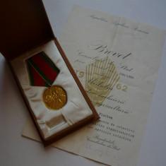 Medalia In cinstea colectivizarii agriculturii + brevet
