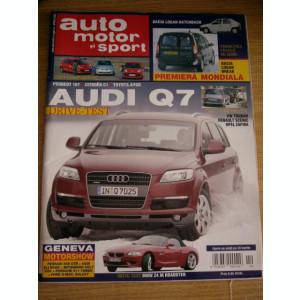 RWX 09 - REVISTA AUTO MOTOR SI SPORT 75 - APRILIE 2006 - PIESA DE COLECTIE