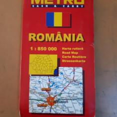 Hartă România Metro cash & Carry, scara 1: 850 000