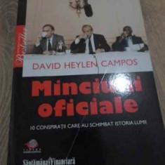 MINCIUNI OFICIALE. 10 CONSPIRATII CARE AU SCHIMBAT ISTORIA LUMII - DAVID HAYLEN