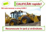 Atestat RAPID buldoexcavatorist mecanic utilaje excavator vola gredere compactor
