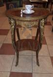 MASUTA CAFEA, LEMN ORNATA CU MOTIVE ORNAMENTALE DE BRONZ, EMPIRE STYLE , H- 73 CM