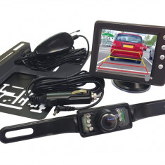 Camera video mers inapoi, parcare cu spatele, cu display wireless 3.5 inch