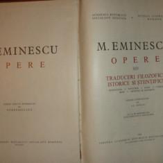 EMINESCU = OPERE VOLUMUL 14 EDITIA PERPESSICIUSAN 1983/1063PAGINI