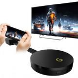 Chromecast Plus Albacom Hdmi streaming, Media Player, Wi-Fi, Miracast, Dlna, Android/IoS (Negru), Google